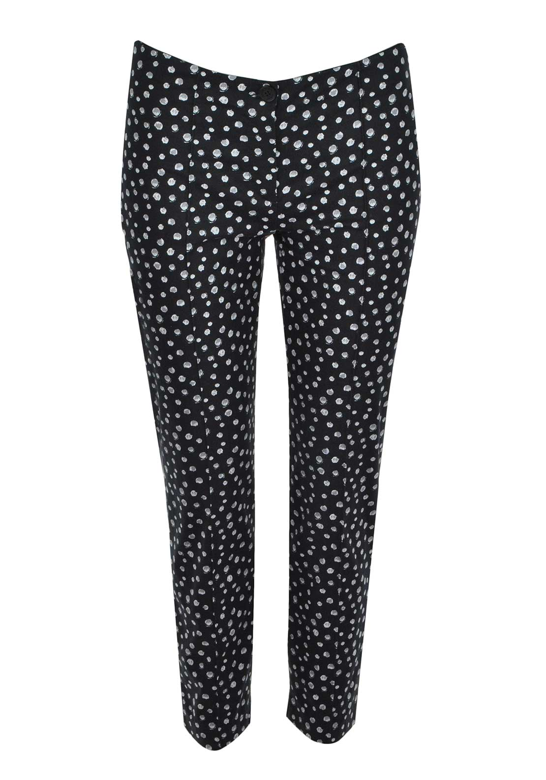 Gerry Weber Circle Printed Cropped Trousers, Black