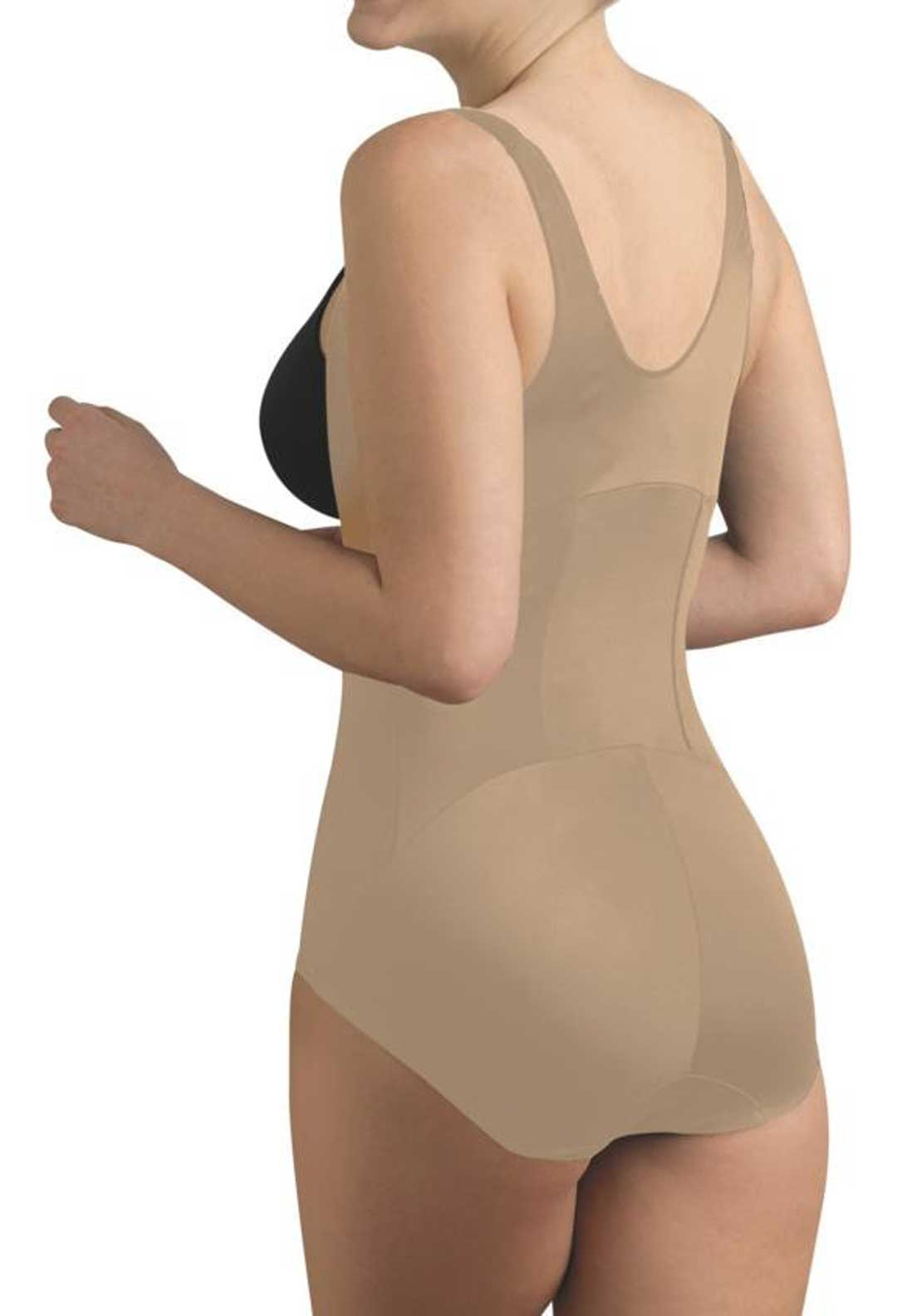Cupid Intimate Firm Control Torsette Bodybriefer, Nude