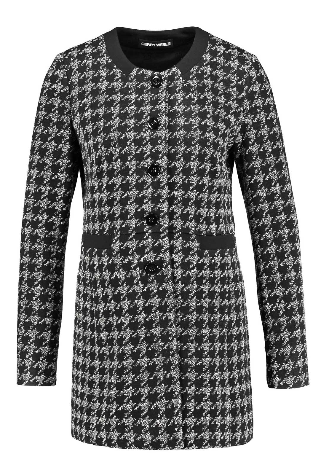 Gerry Weber Houndstooth Print Coatigan, Black