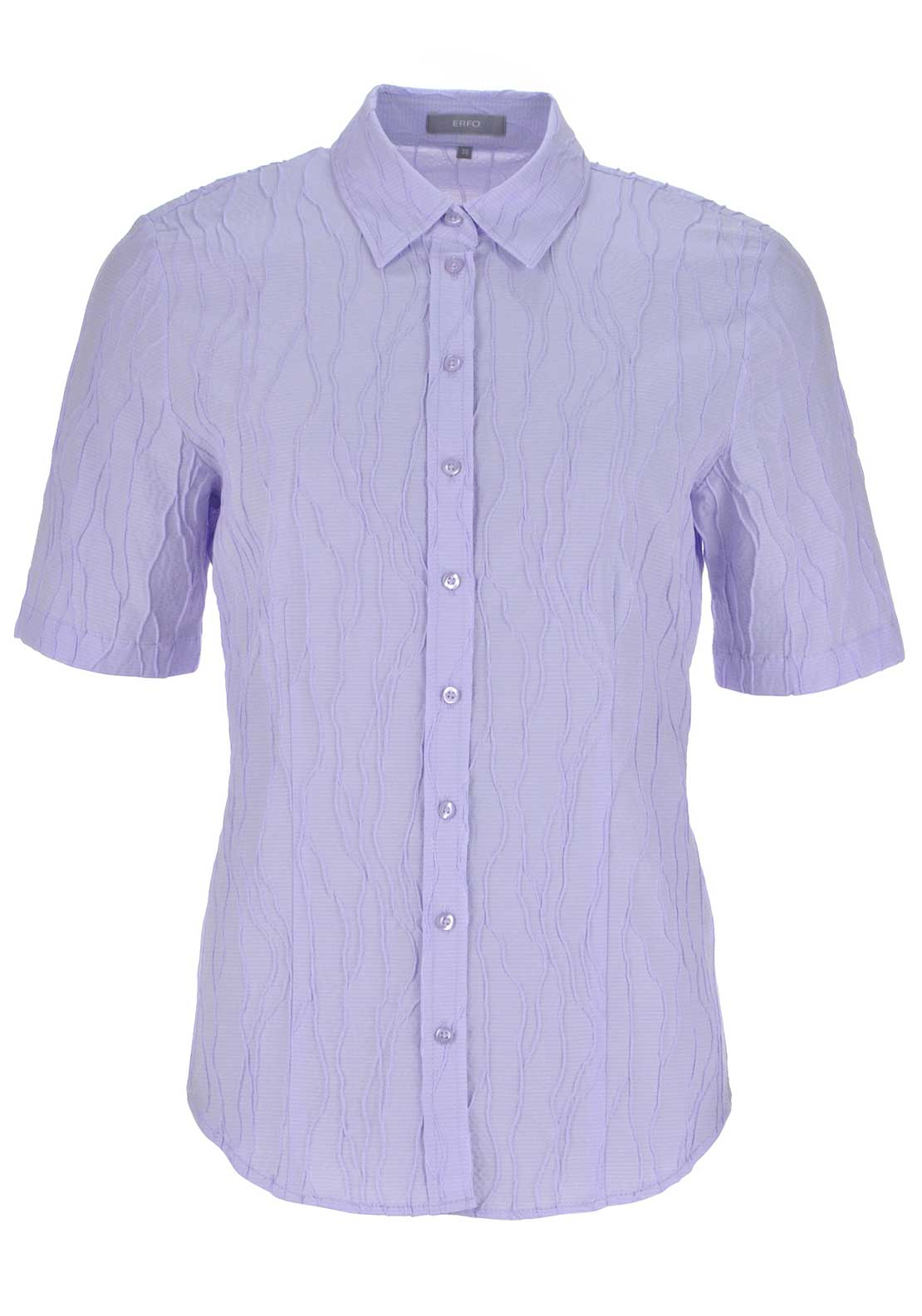ERFO Embossed Print Short Sleeve Blouse, Lilac