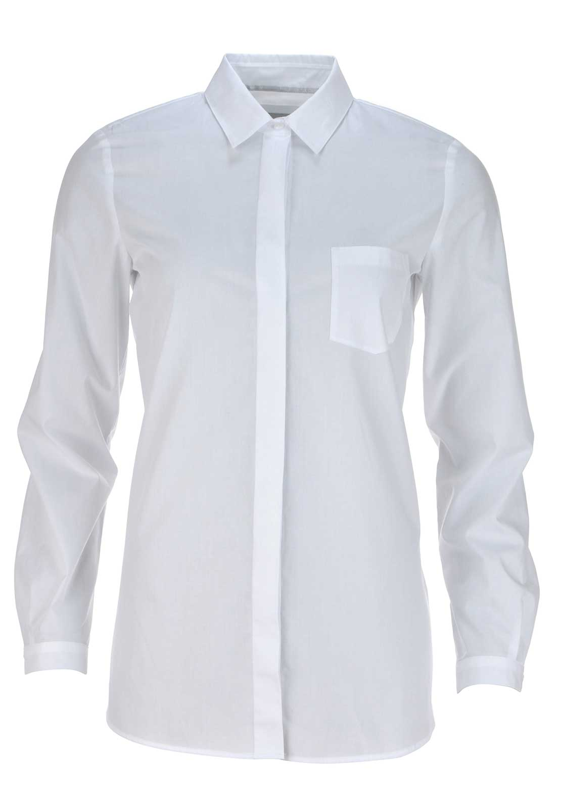 Gerry Weber Concealed Button Placket Long Sleeve Blouse, White
