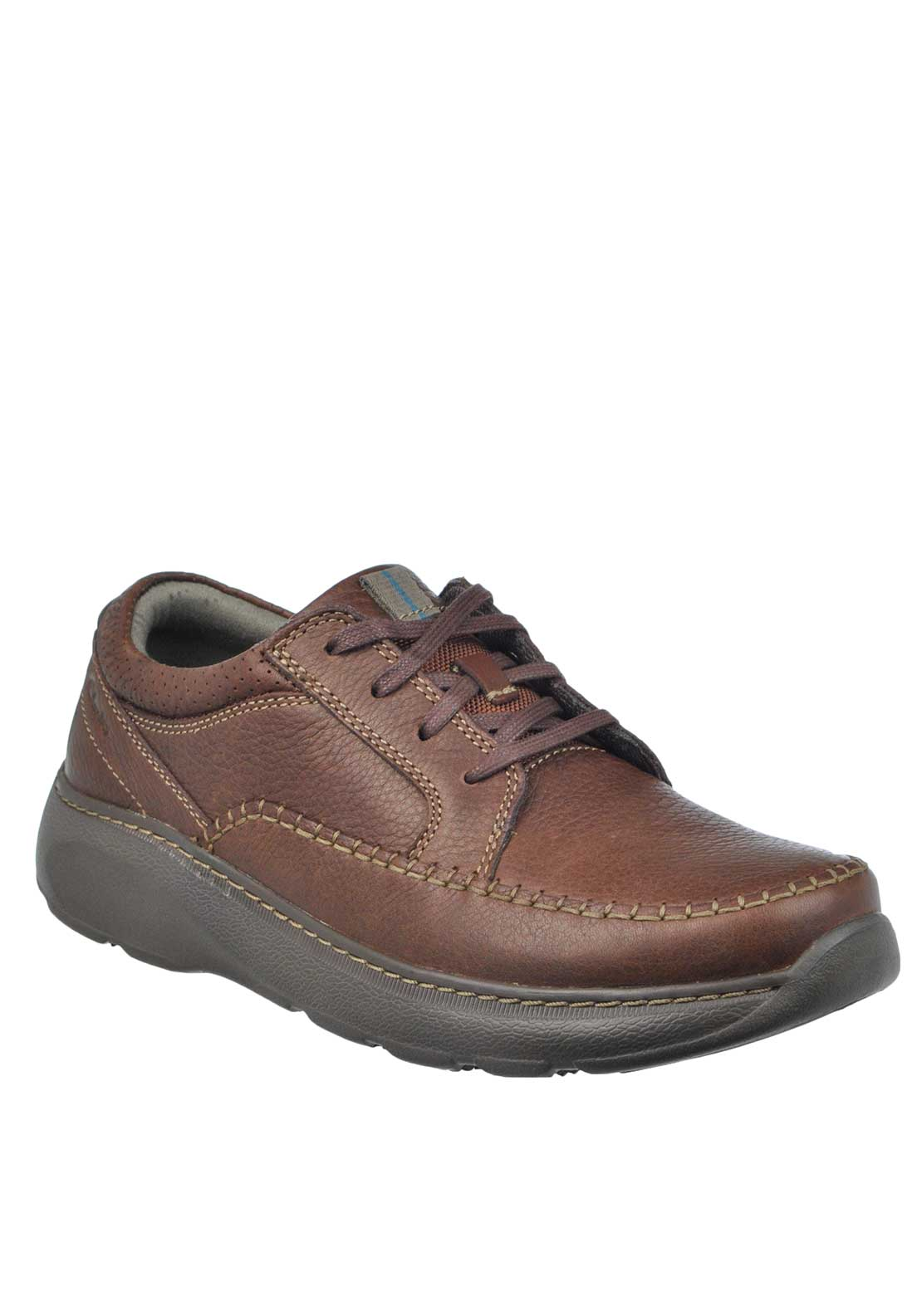 Clarks Mens Charton Lace Up Leather Shoe, Brown