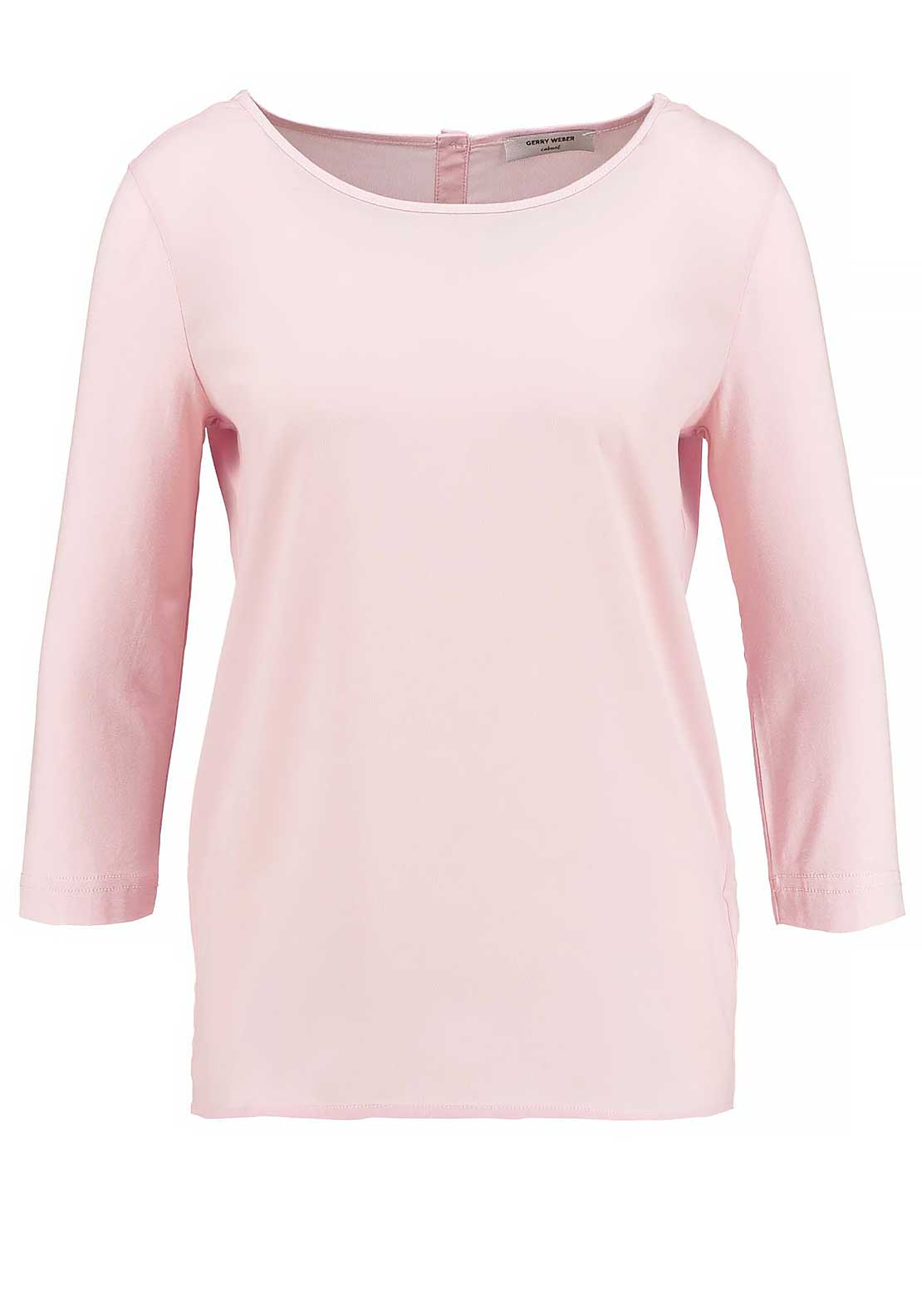 Gerry Weber Cropped Sleeve Chiffon Top, Pink