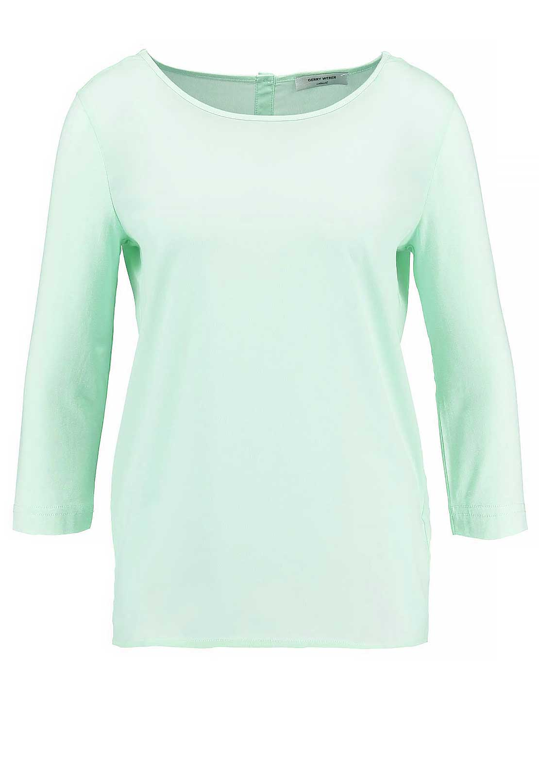 Gerry Weber Cropped Sleeve Chiffon Top, Mint Green