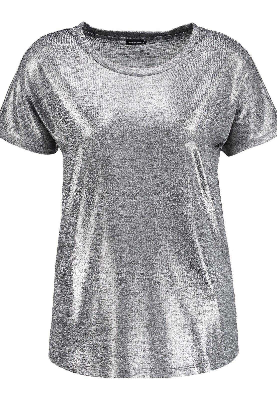 Gerry Weber Metallic Short Sleeve T-Shirt, Silver