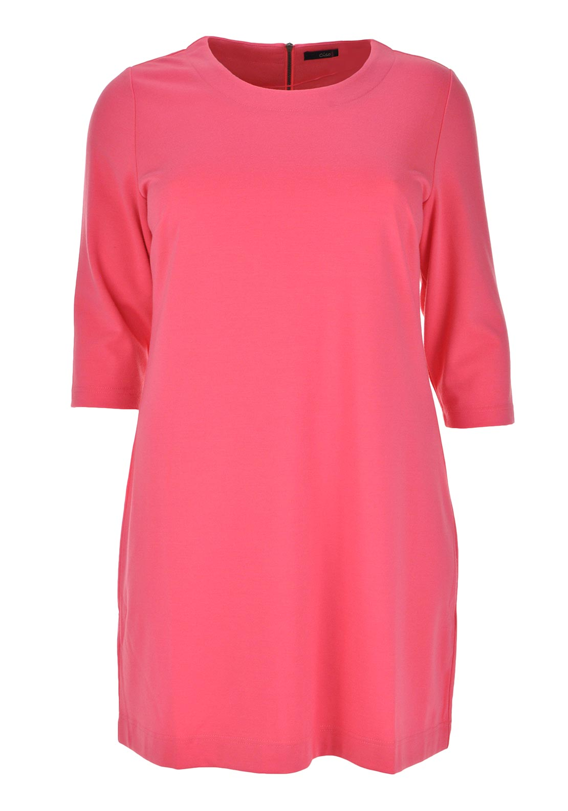 Ciso Cropped Sleeve A-Line Jersey Dress, Coral