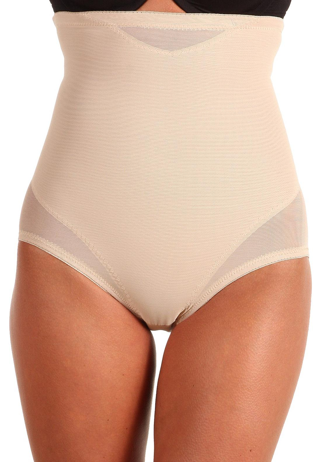 Miraclesuit Sexy Sheer Shaping Hi-Waist Brief Nude