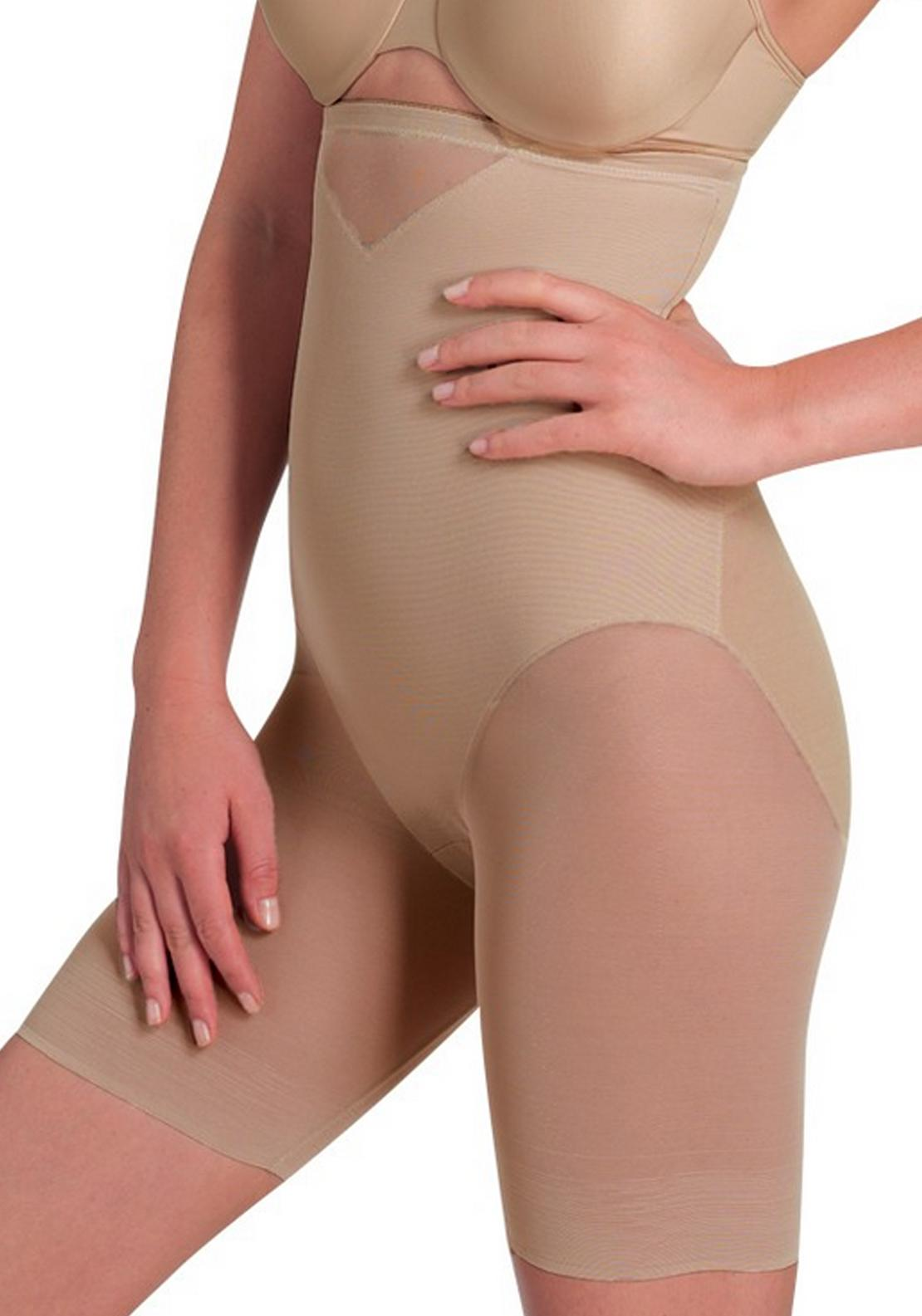 Miraclesuit Sexy Sheer Shaping Hi-Waist Thigh Slimmer Nude