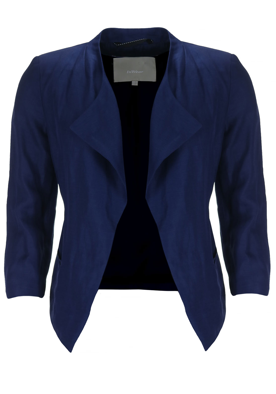Inwear Demi Linen Rich Jacket, Deep Blue