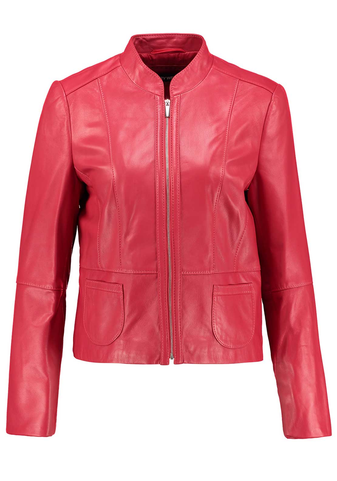 Gerry Weber Genuine Leather Jacket, Red