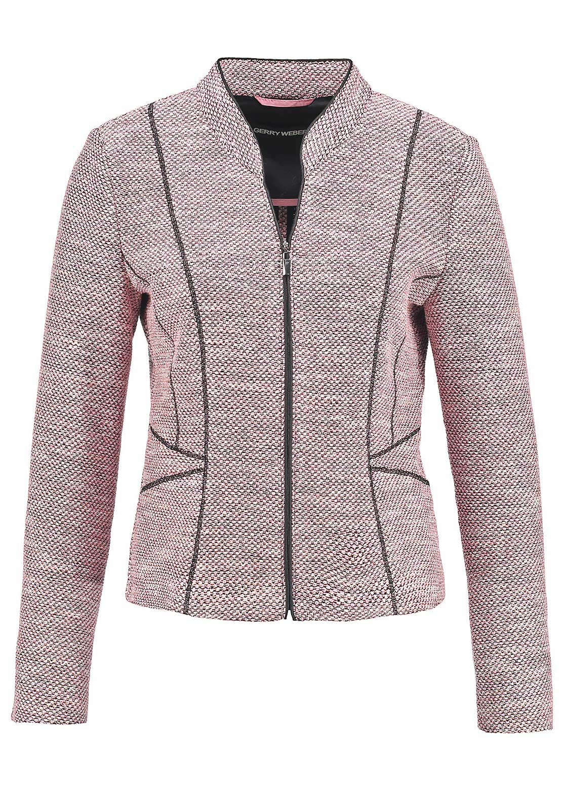 Gerry Weber Boucle Zip Front Jacket, Pink