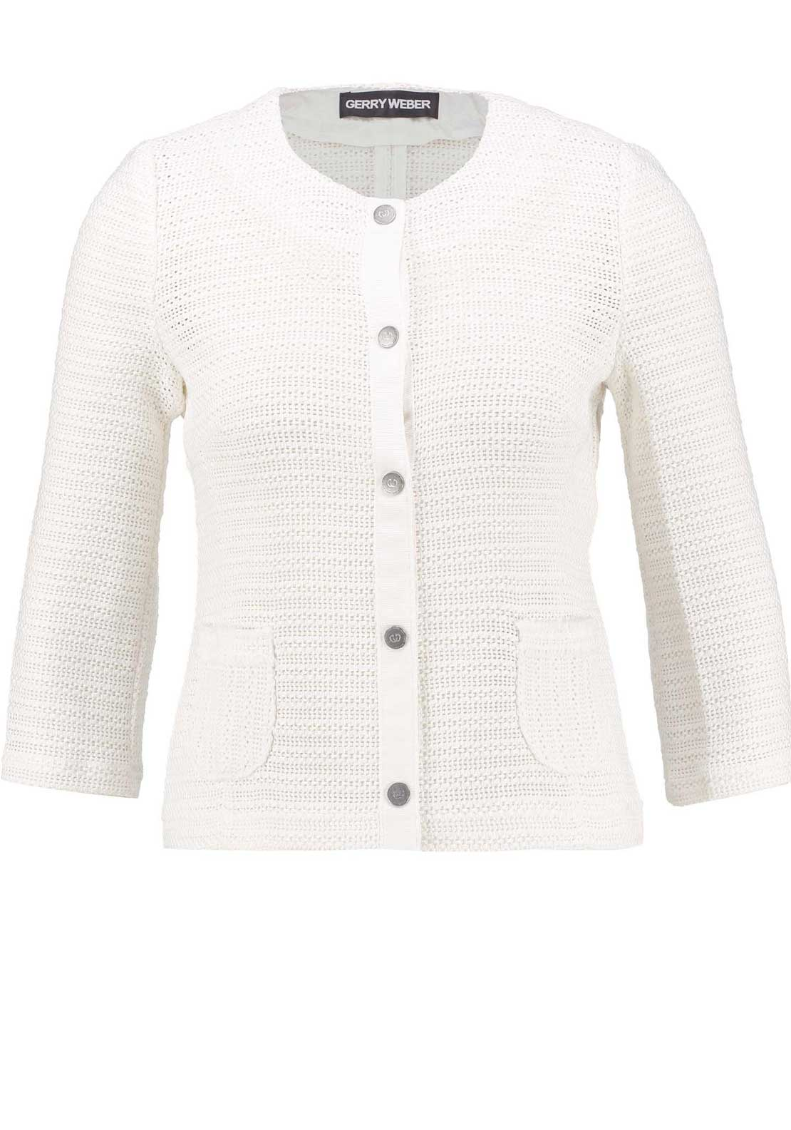 Gerry Weber Embossed Knit Jacket, White