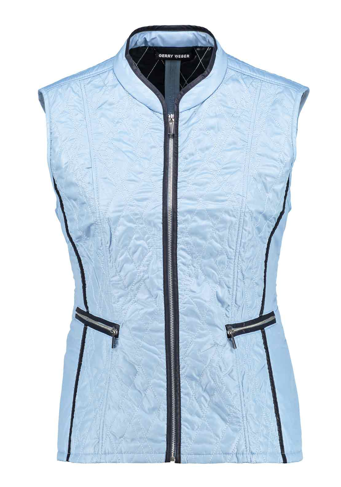 Gerry Weber Diamond Quilted Gilet, Pale Blue