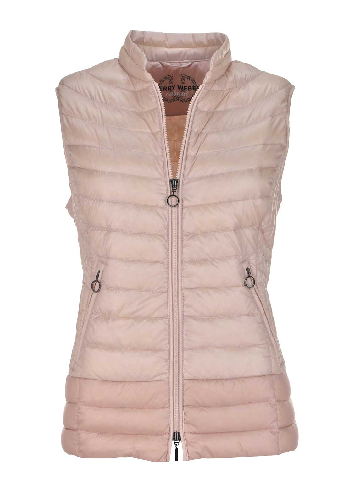 Gerry Weber Down Padded Quilted Gilet, Pink