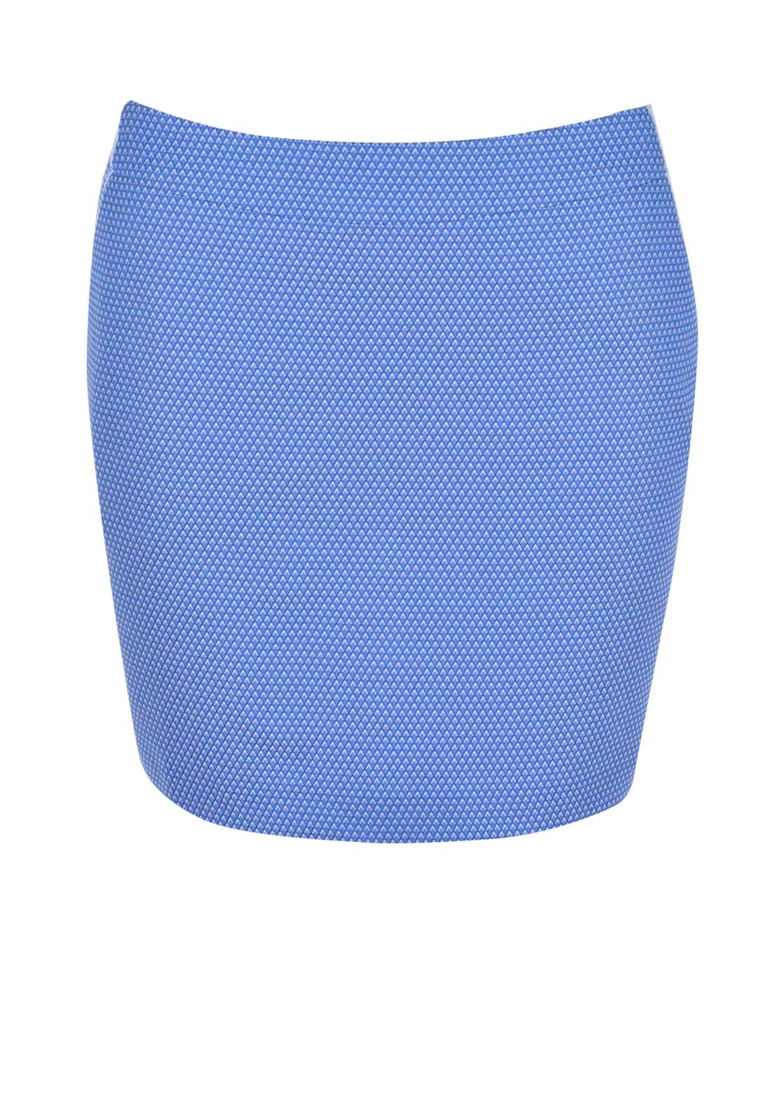 Color Block Embroidered Mini Skirt, Blue