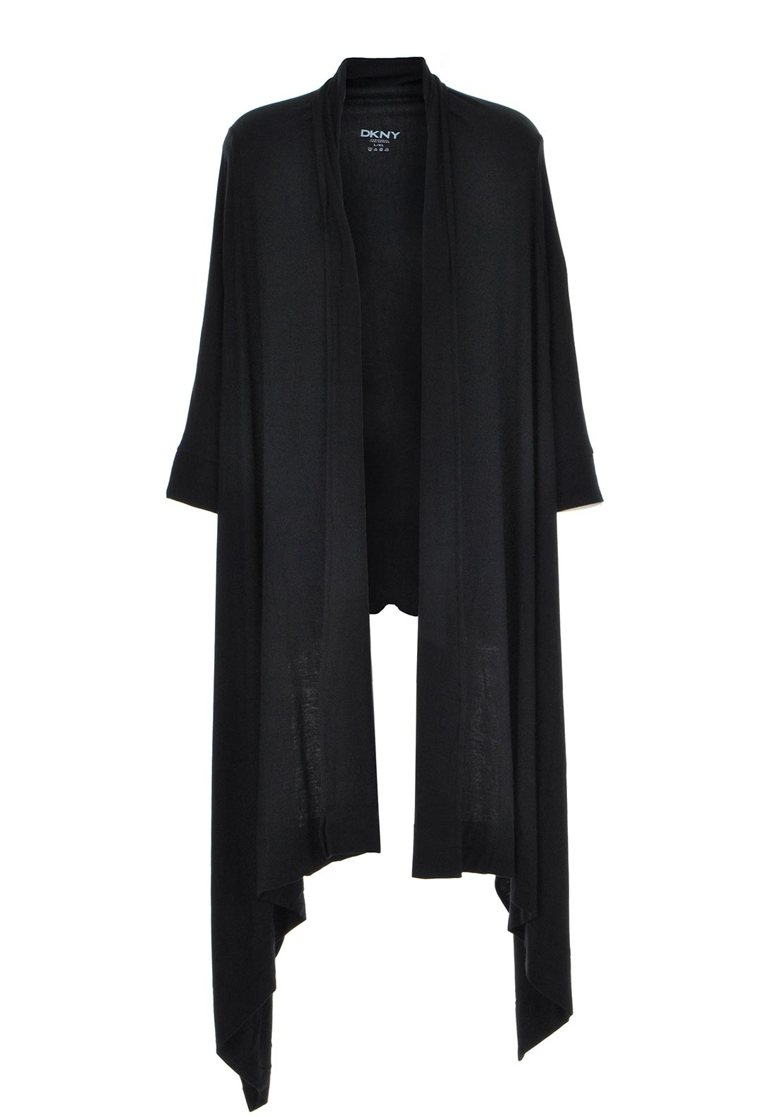 DKNY Womens Urban Essentials Cosy Robe, Black