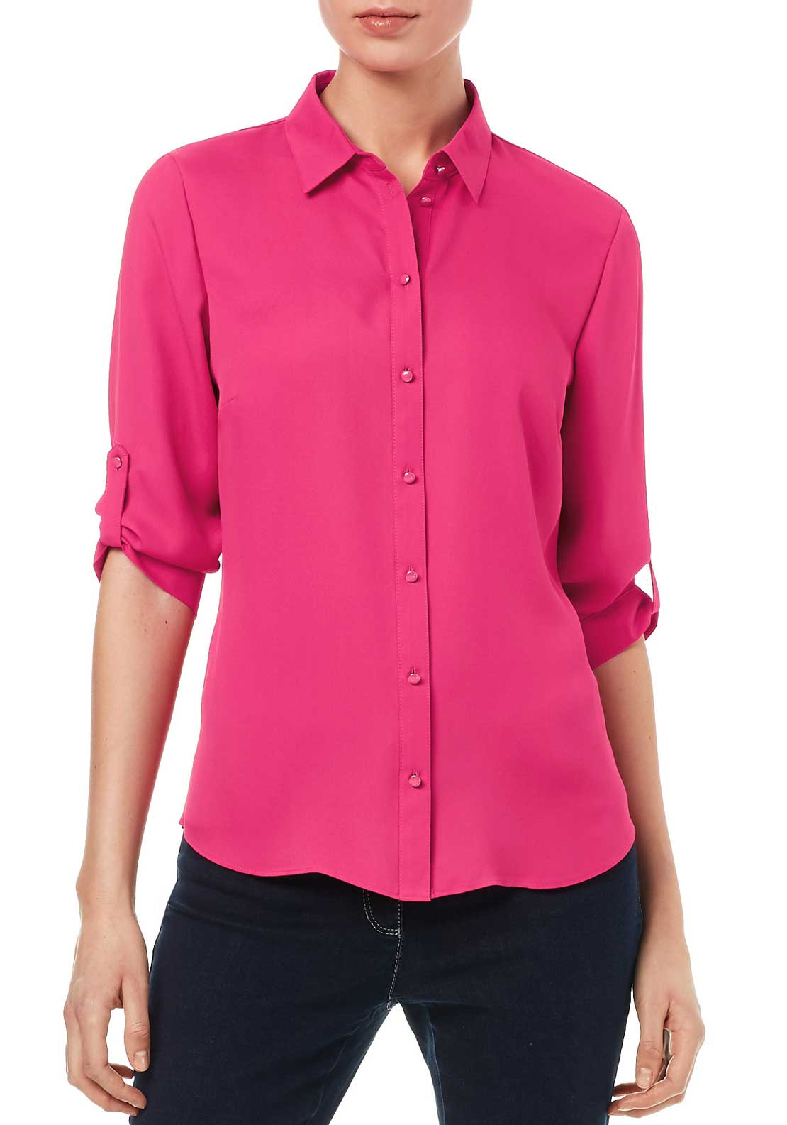 Gerry Weber High Necked Blouse, Pink