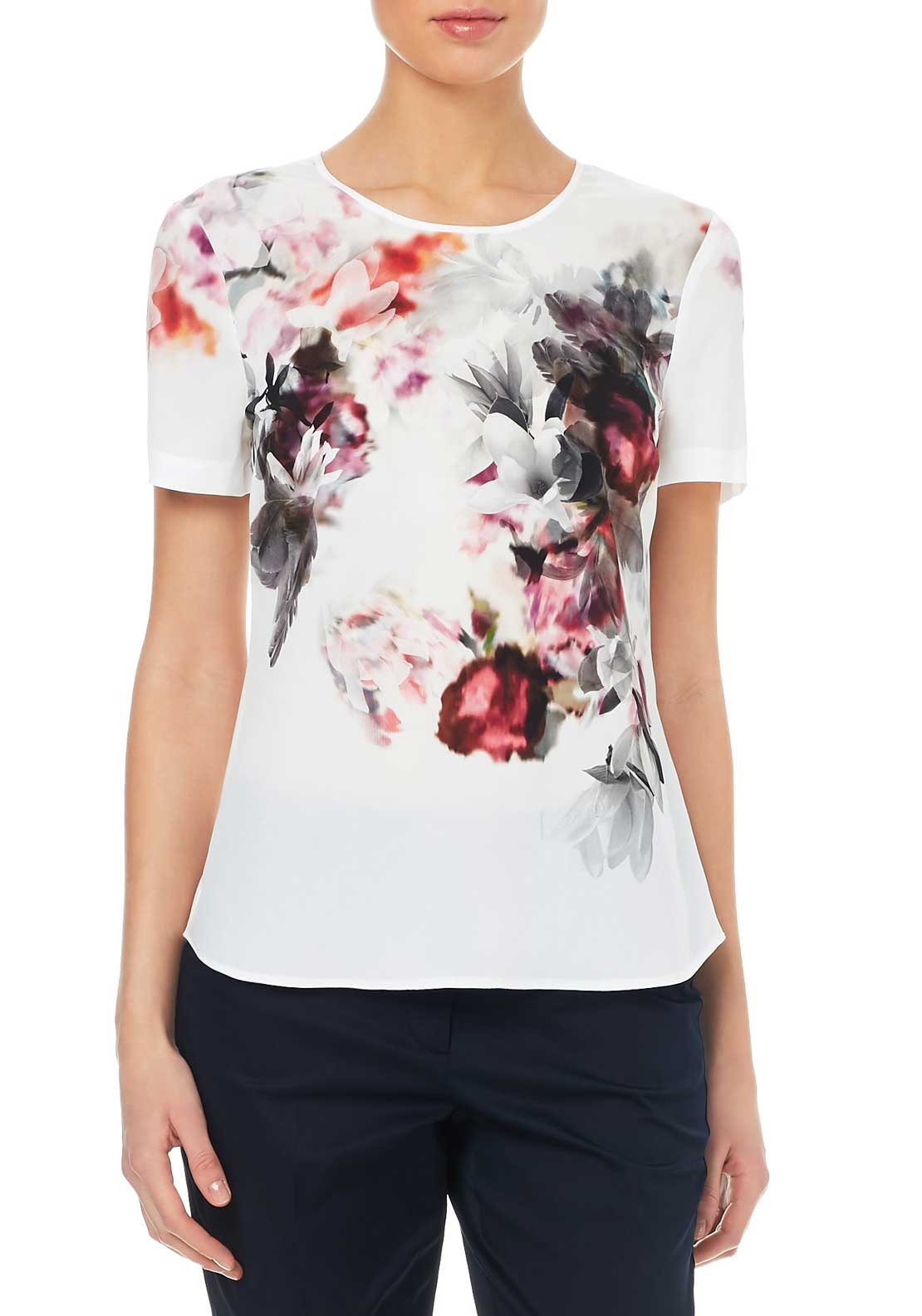 Gerry Weber Floral Print Top, Multi-Coloured