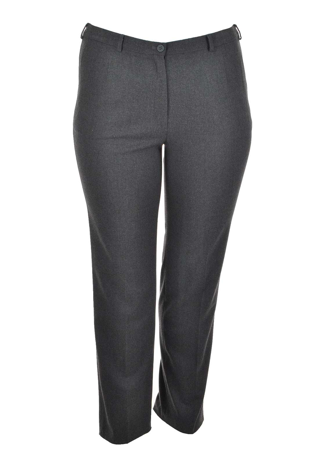 Lebek Straight Leg Trousers, Grey