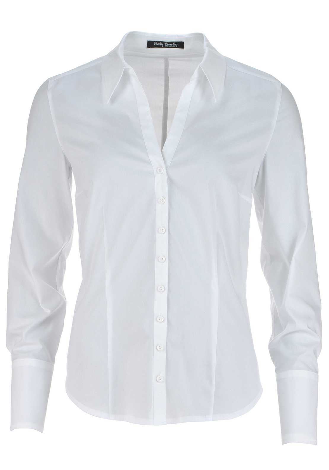 Betty Barclay Classic Long Sleeve Blouse, White