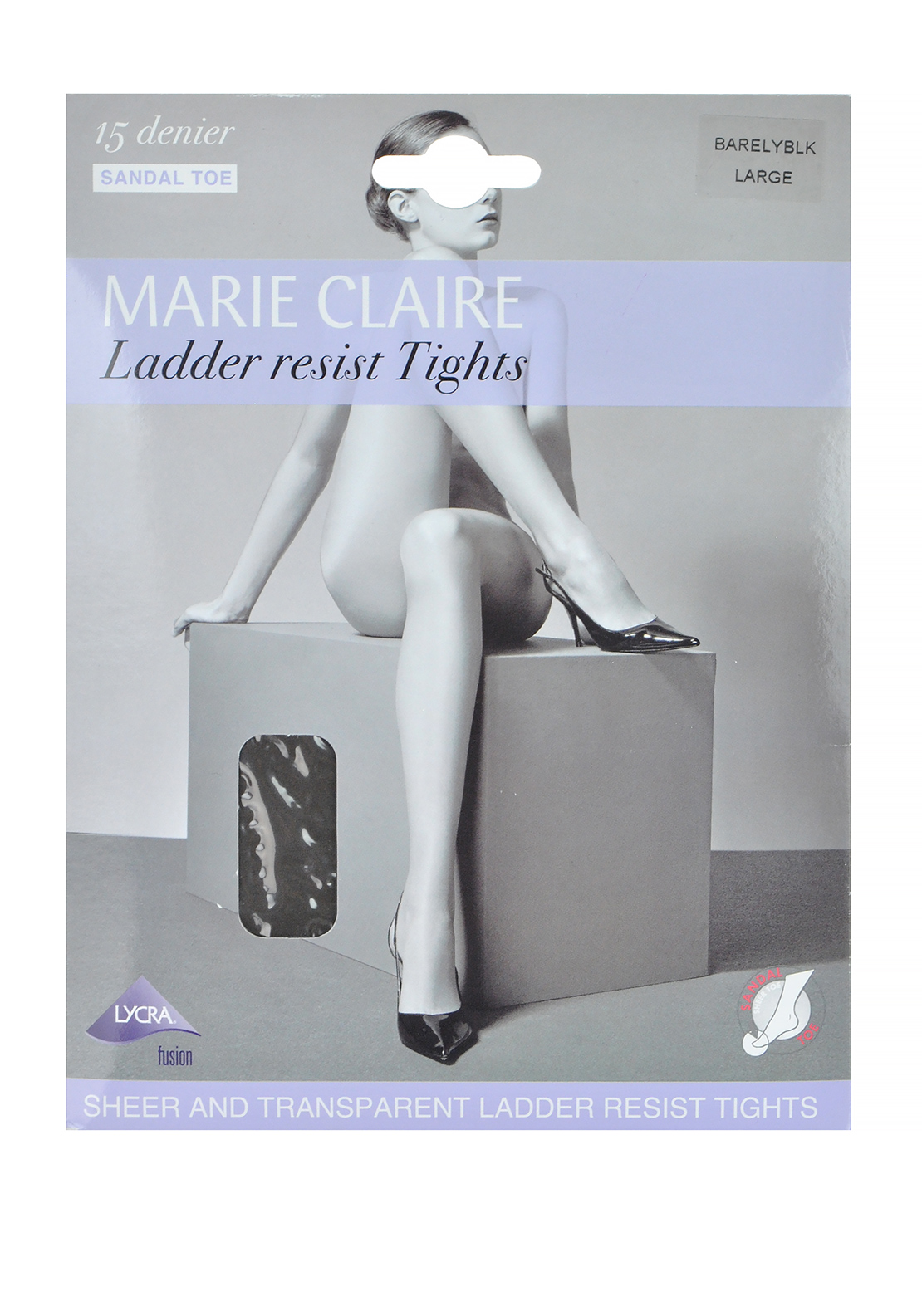 Marie Claire 15 Denier Ladder Resist Tights, Barely Black