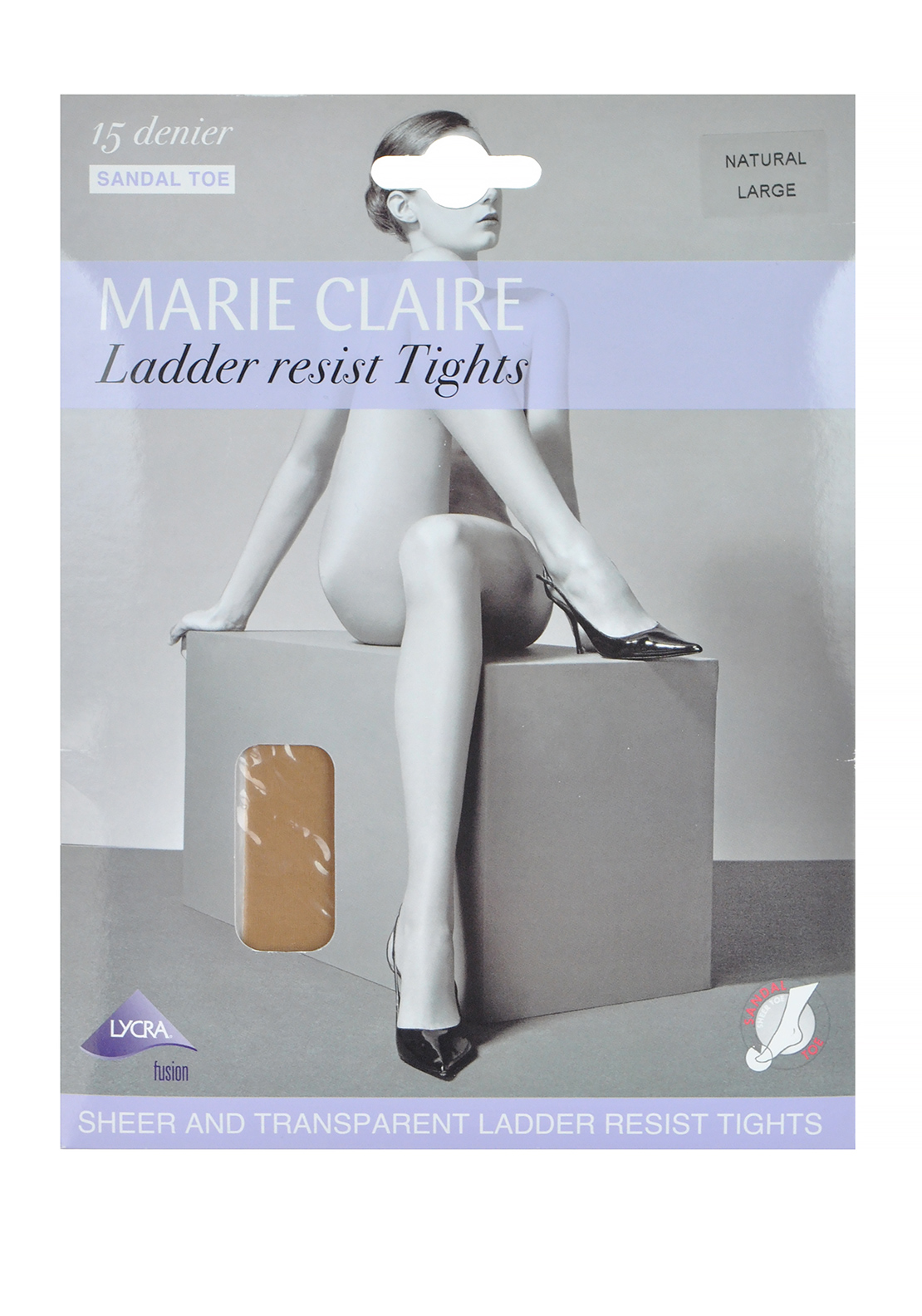 Marie Claire 15 Denier Ladder Resist Tights, Natural