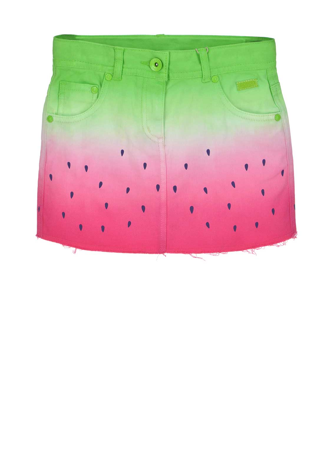 Boboli Girls Watermelon Denim Skirt, Pink