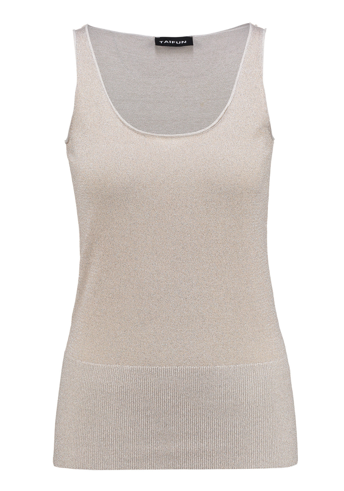Taifun Sleeveless Lurex Vest Top, Gold