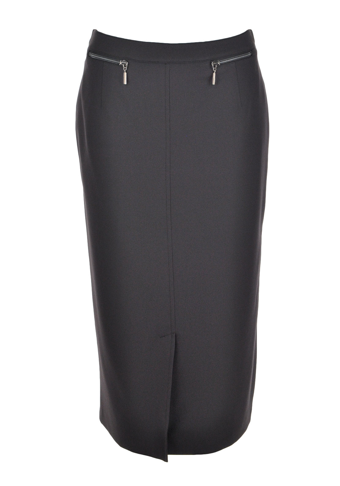 Eugen Klein Straight Midi Length Skirt, Charcoal Grey