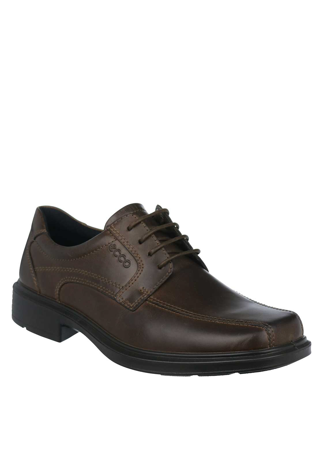 Ecco Mens Helsinki Lace Up Leather Shoe, Cocoa Brown