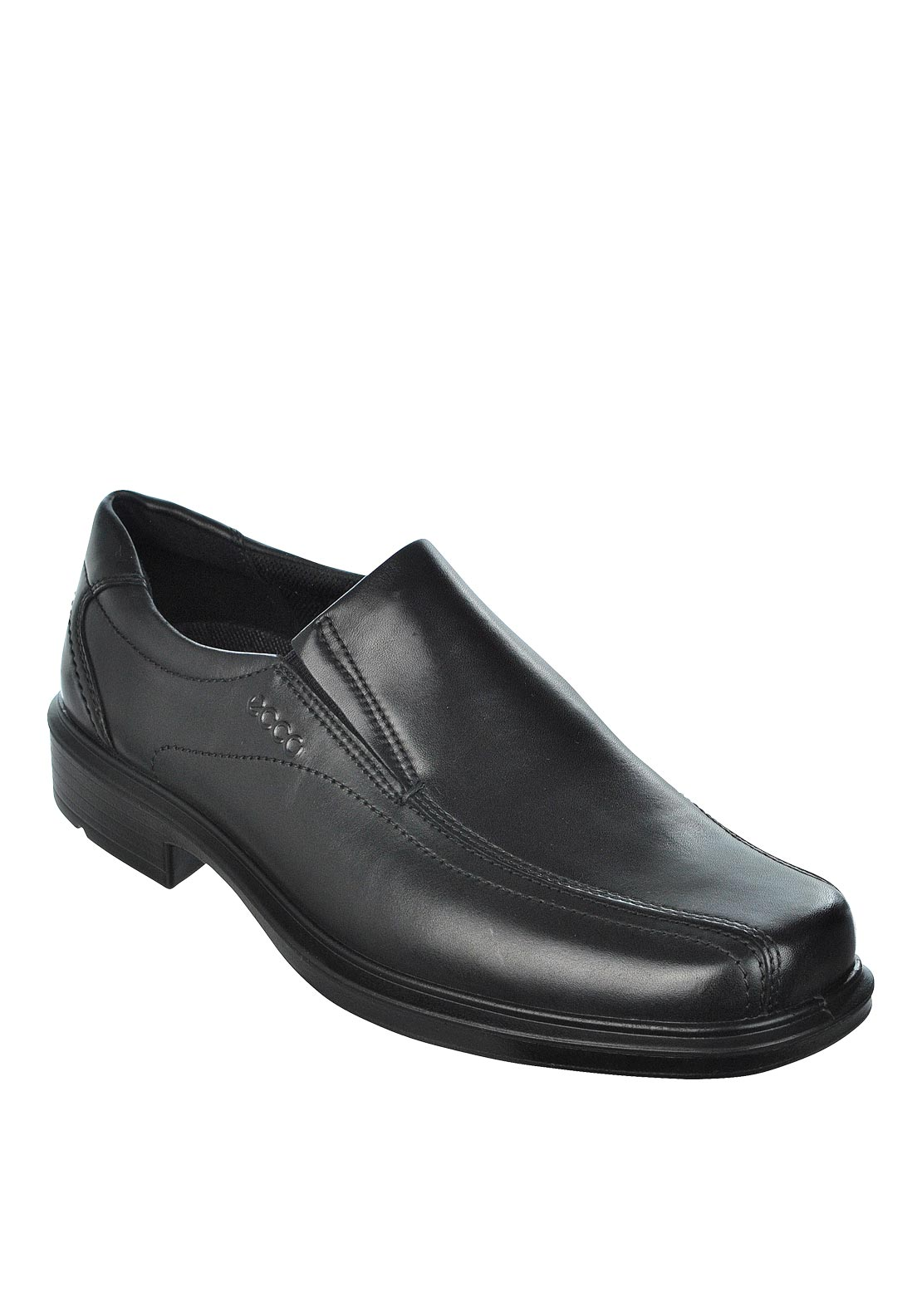 Ecco Mens Helsinki Slip-On Leather Shoe, Black