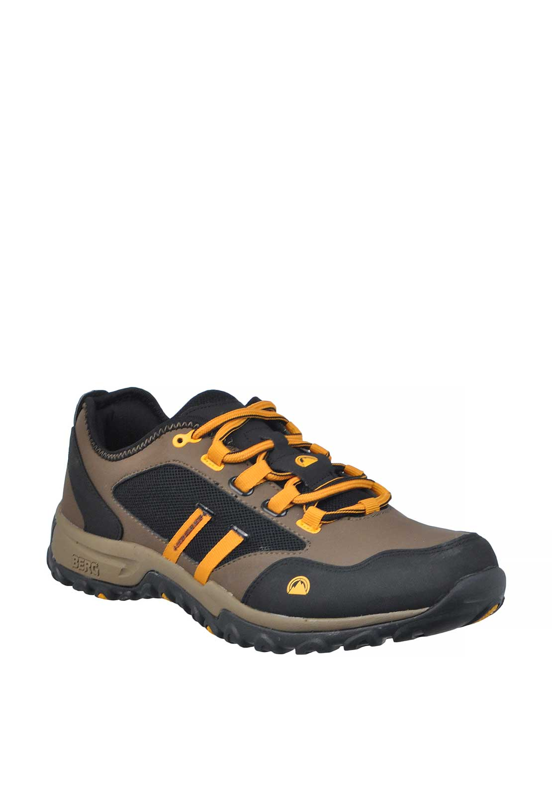 Berg Outdoor Mens Numbat Lace Up Trainer, Brown and Black