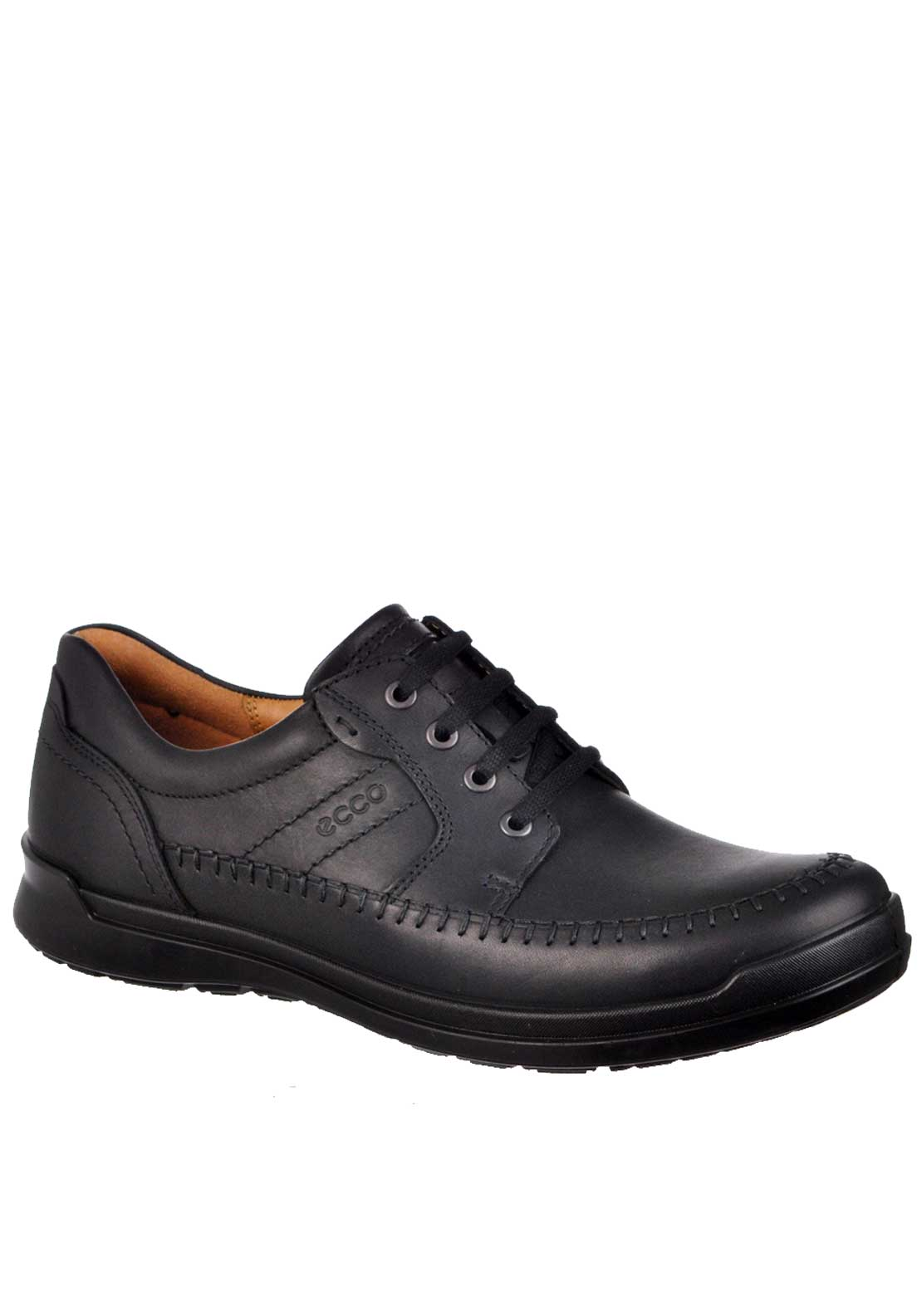 Ecco Mens Howell Lace Up Leather Shoe, Black