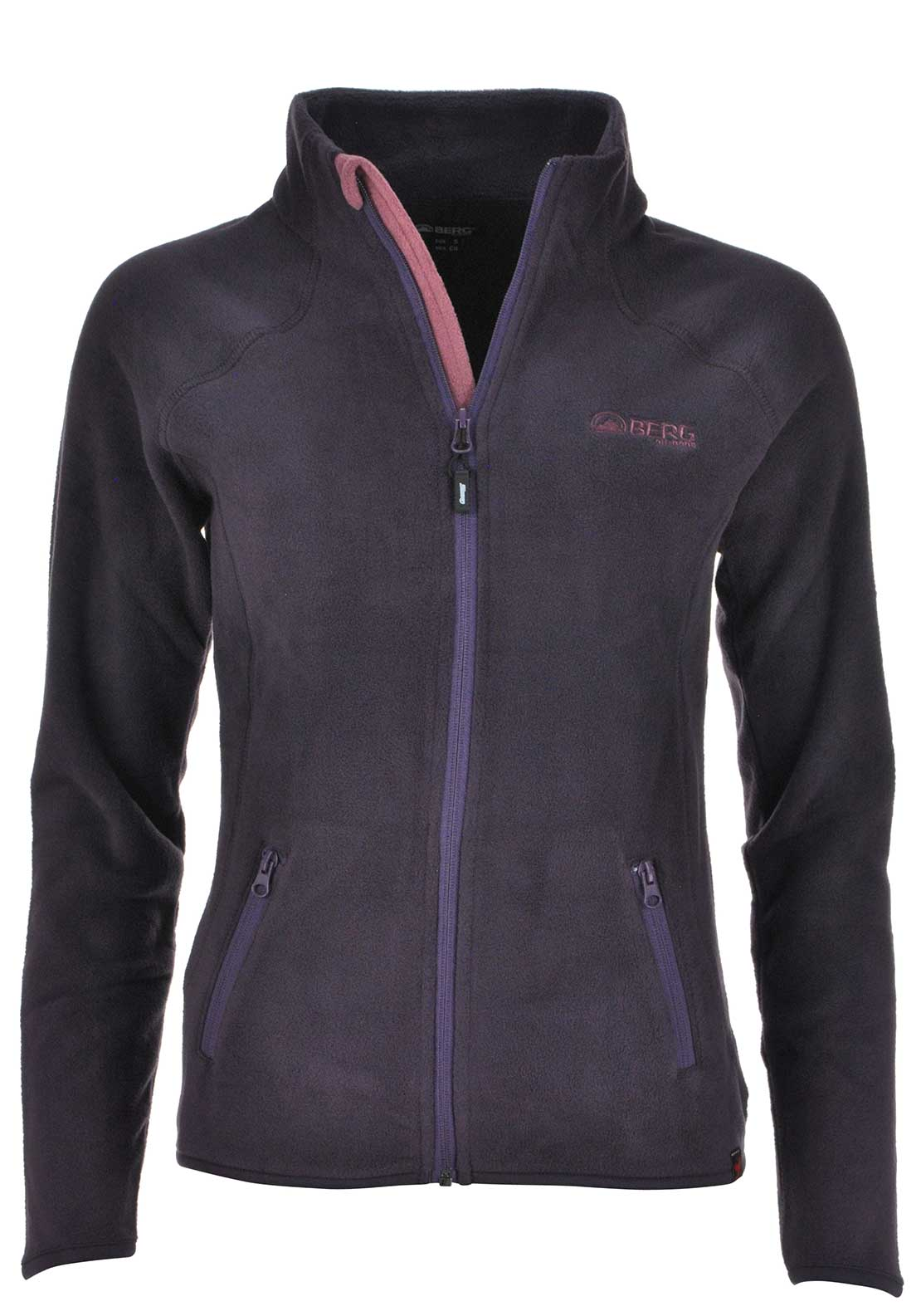 Berg Outdoor Womens Xingu Zip Fleece, Plum