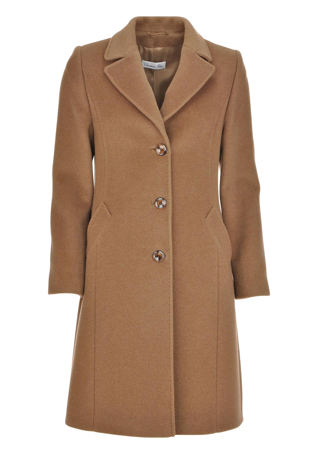 Christina Felix Wool & Cashmere Coat, Brown