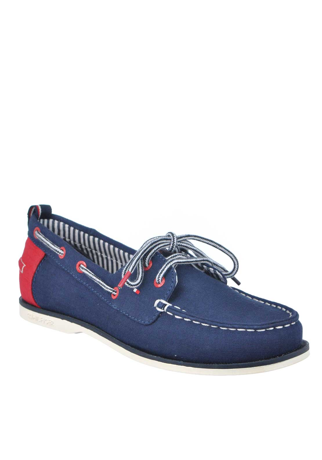 Tommy Hilfiger Canvas Laced Loafers, Navy