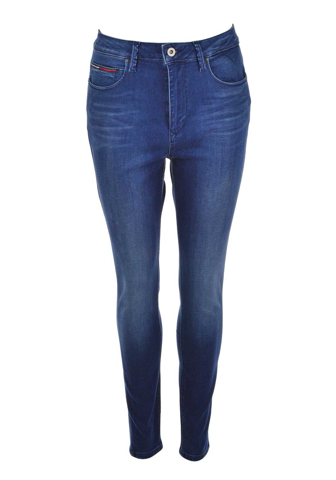 Tommy Hilfiger Womens Skye Ultra High Rise Skinny Jeans, Blue