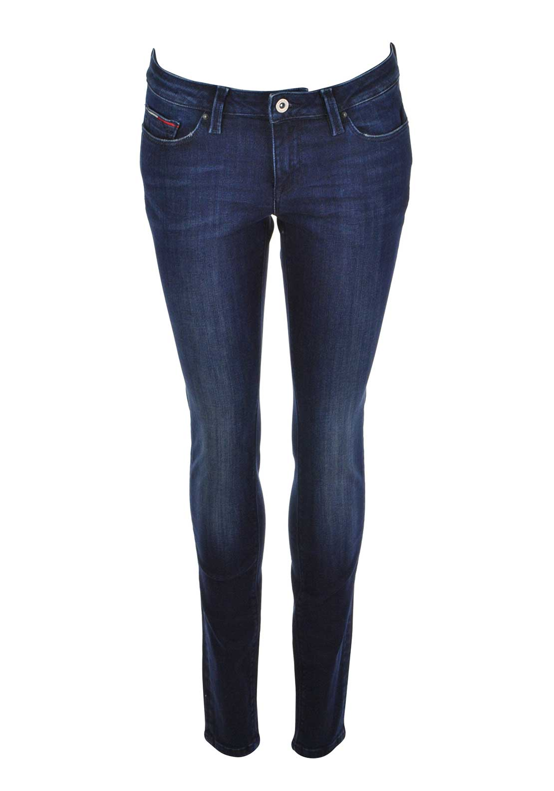 Tommy Hilfiger Womens Nora Mid Rise Skinny Jeans, Dark Blue