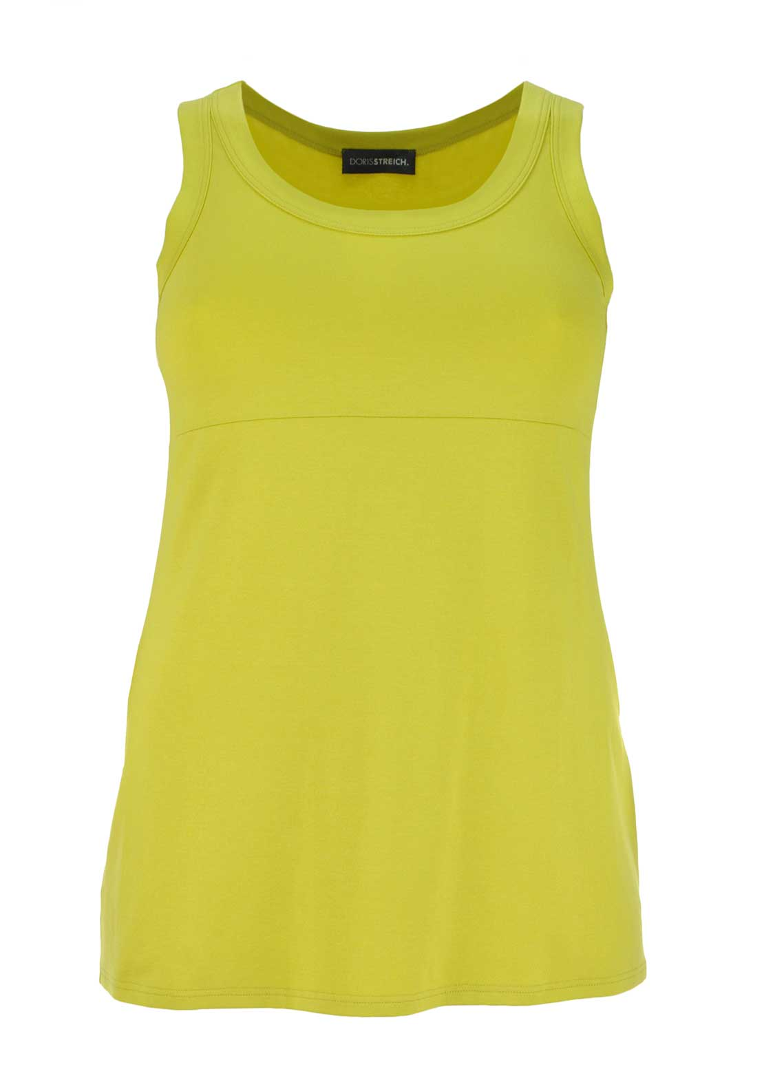 Doris Streich Sleeveless Vest Top, Lime Green