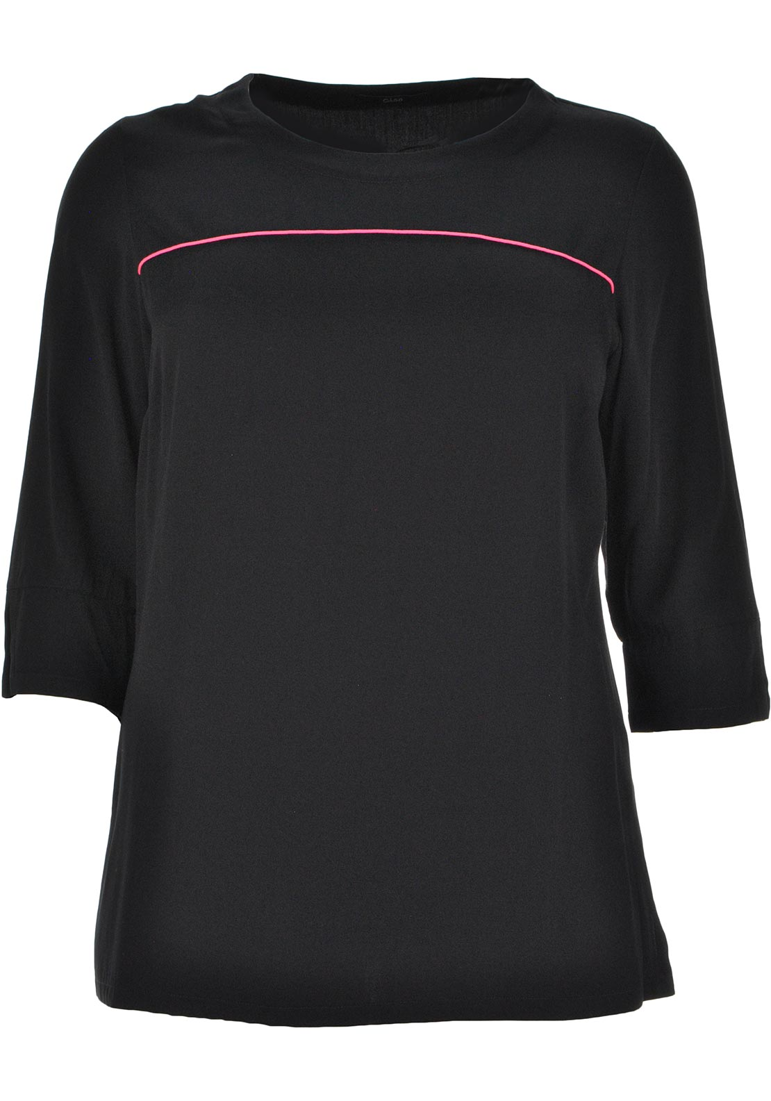 Ciso Relaxed Fit Tunic Top, Black