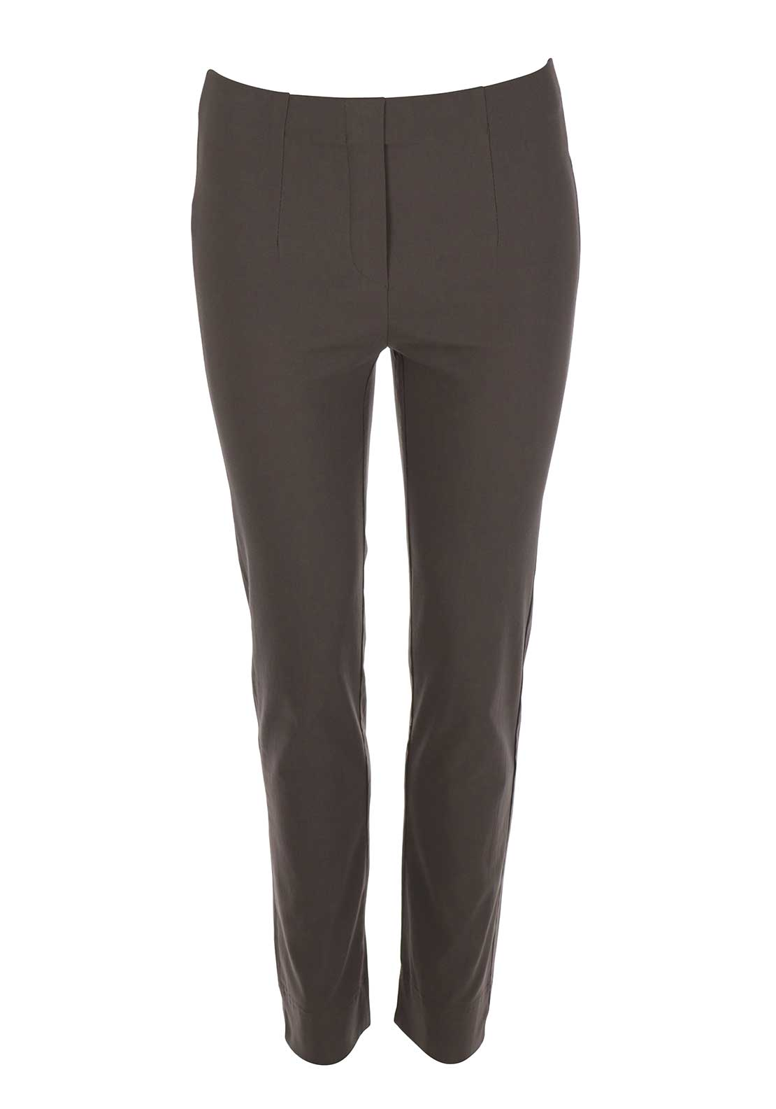 d.e.c.k. by Decollage Slim Leg Cropped Trousers, Mocha Brown