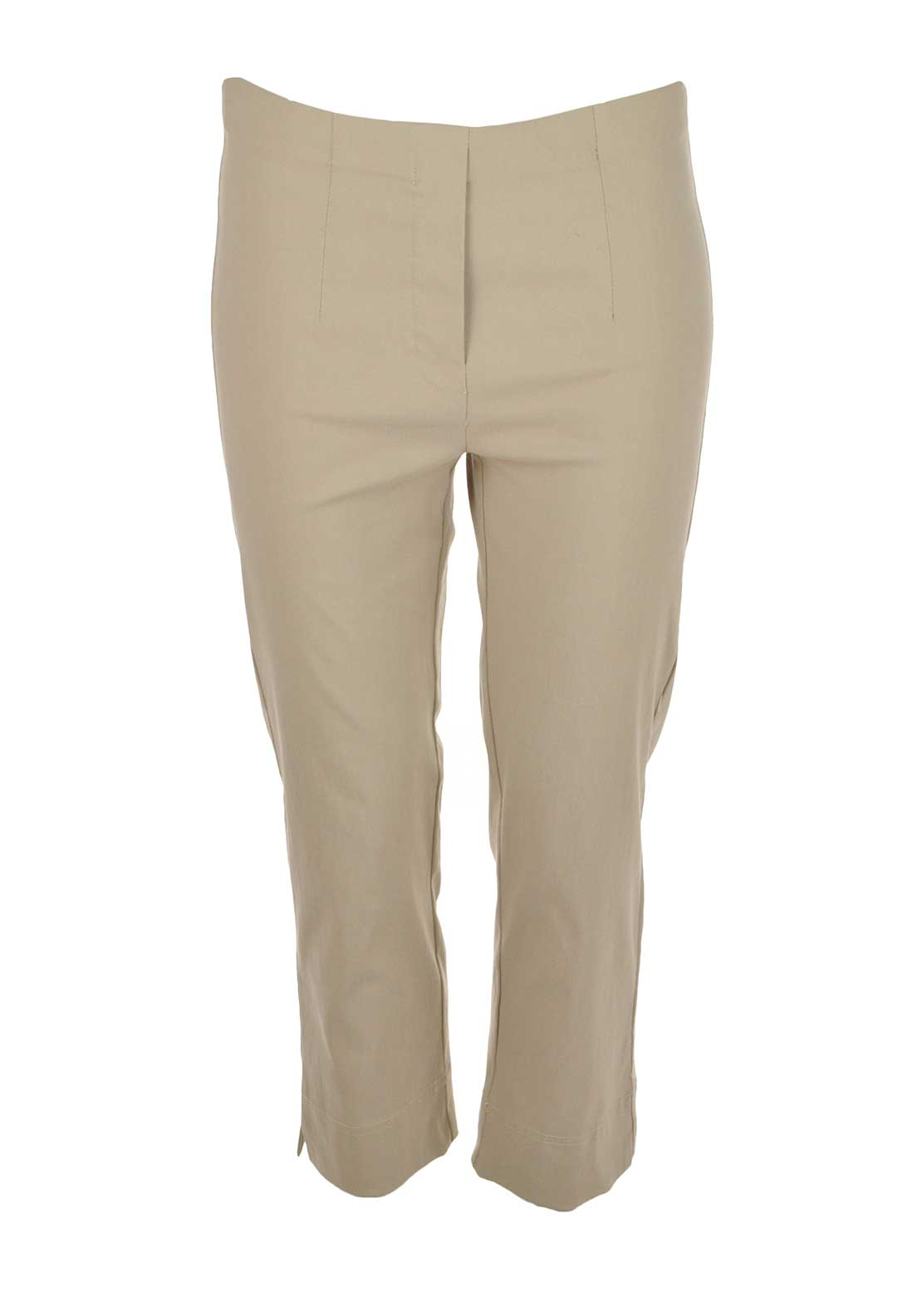 d.e.c.k. by Decollage Slim Leg Cropped Trousers, Sand