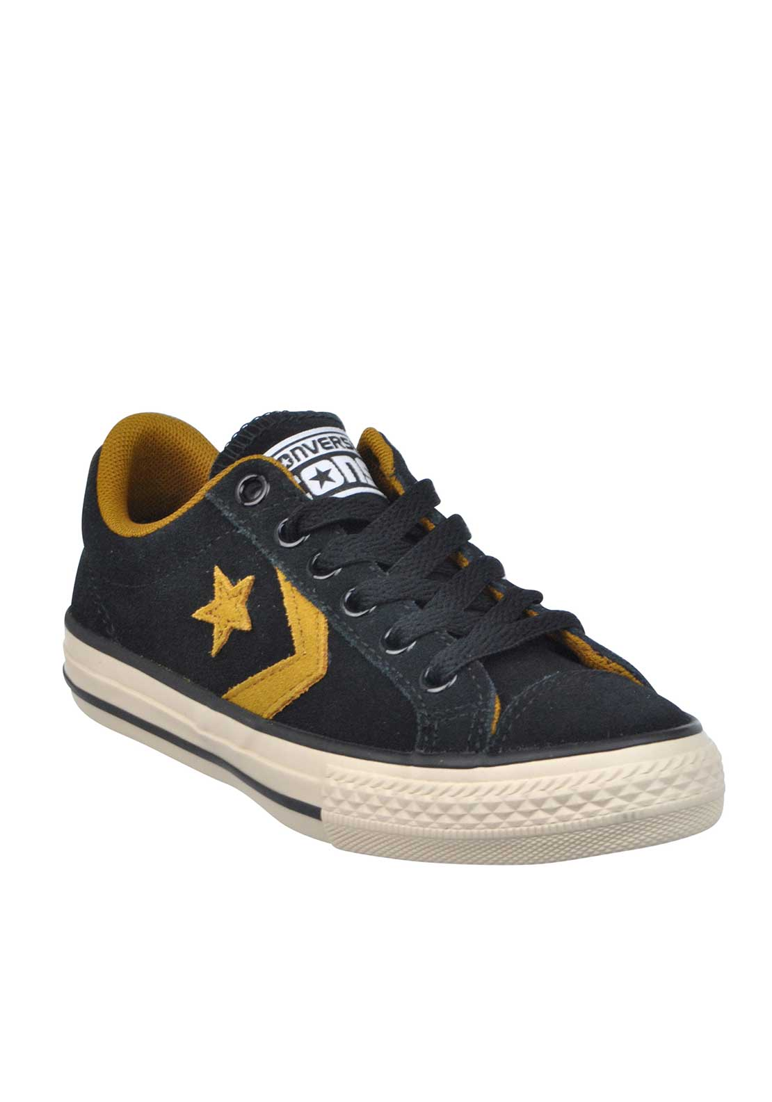 Converse Kids Cons Star Player Suede Trainers, Black