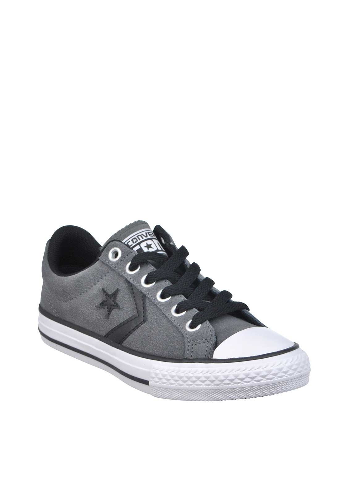Converse Kids Cons Star Player Suede Trainers, Grey