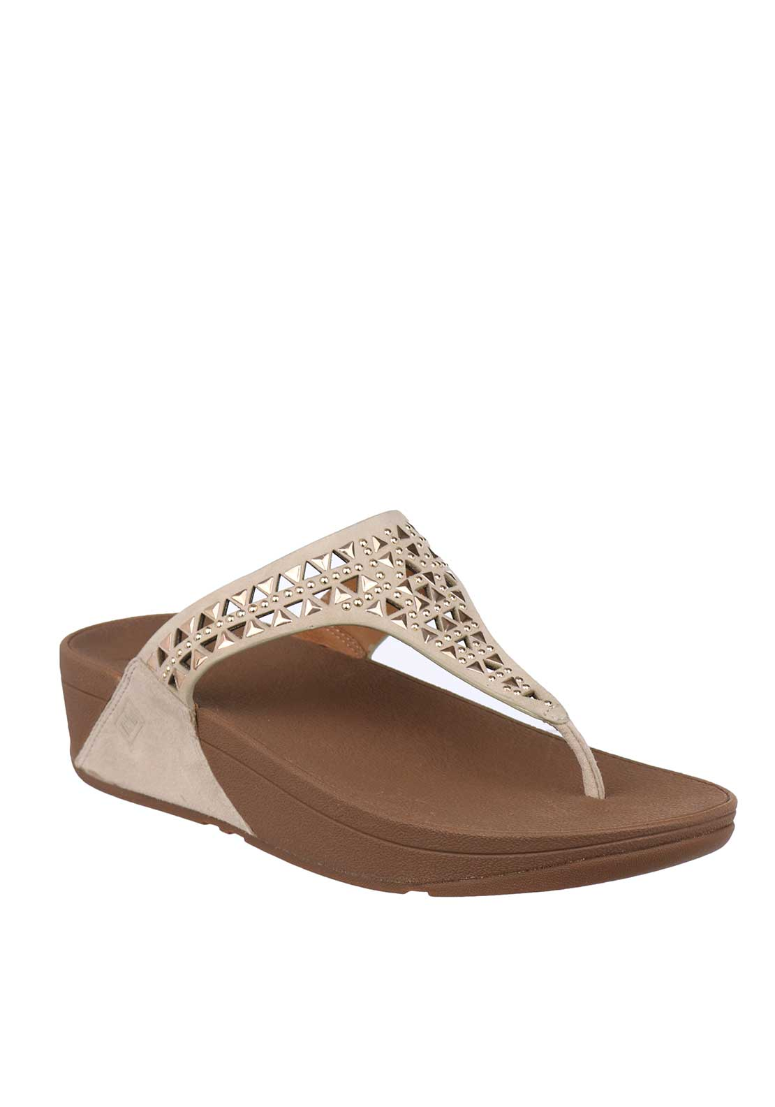 Fit Flop™ Carmel™ Suede Toe Thong Sandals, Rose Gold