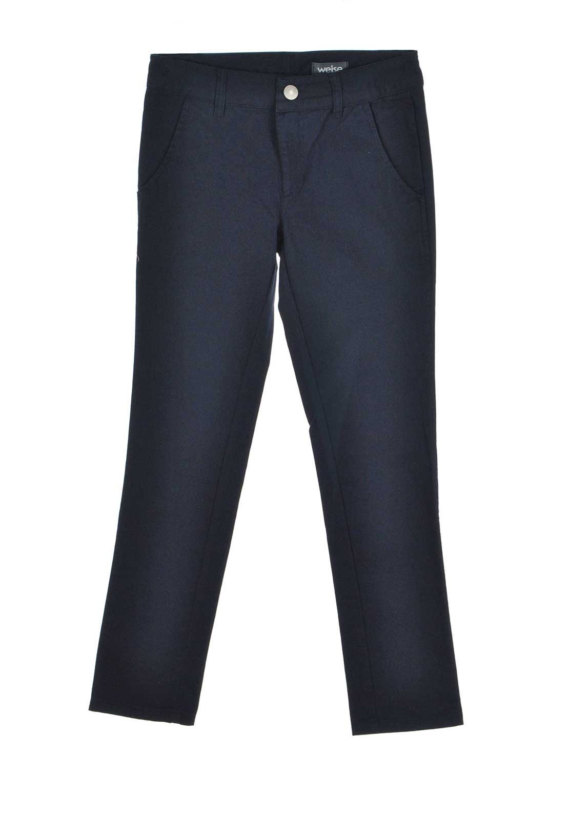 Weise Boys Slim Leg Twill Chino Trousers, Navy