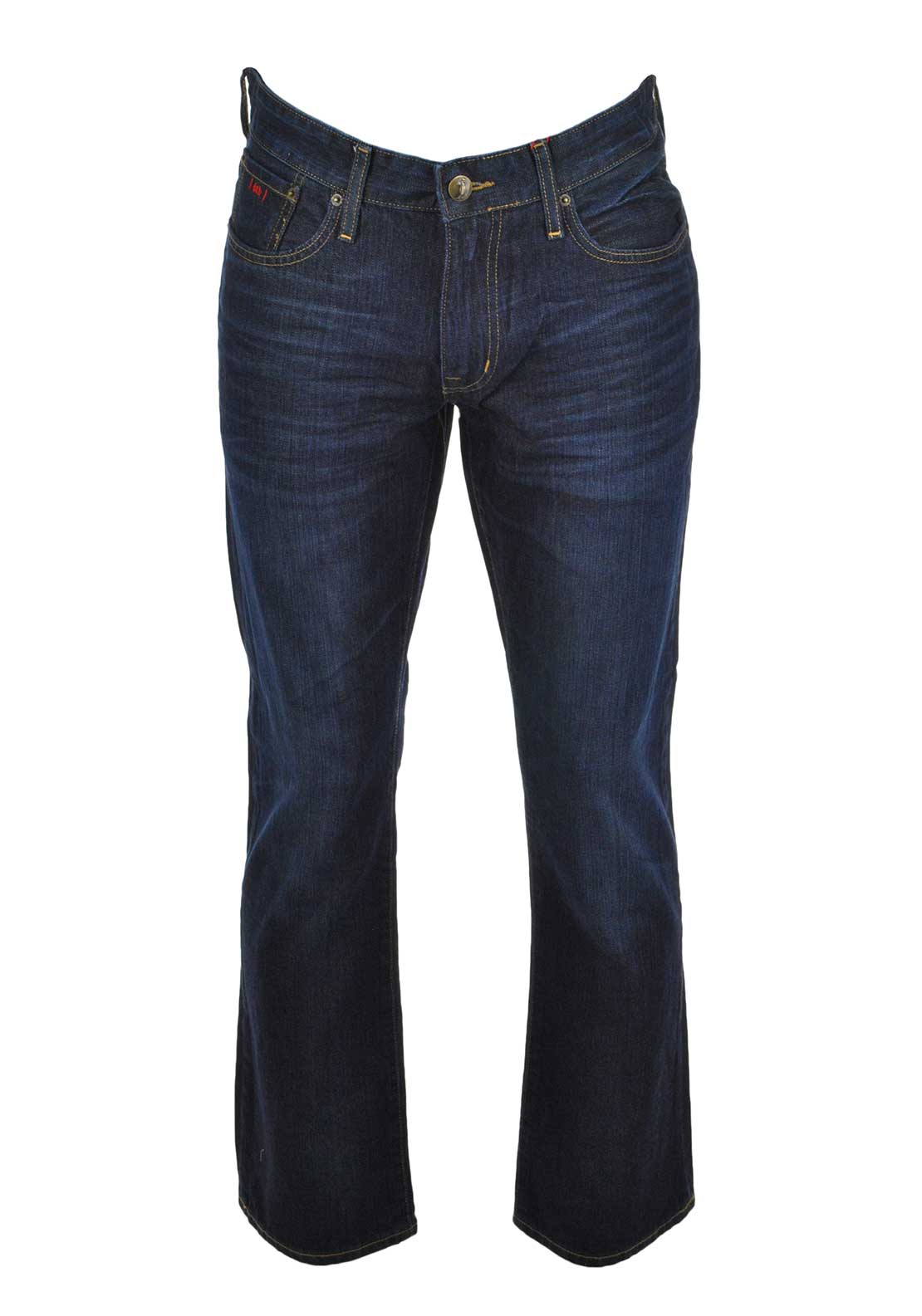 6TH Sense Mens Fred Bootcut Jean, Mid Blue