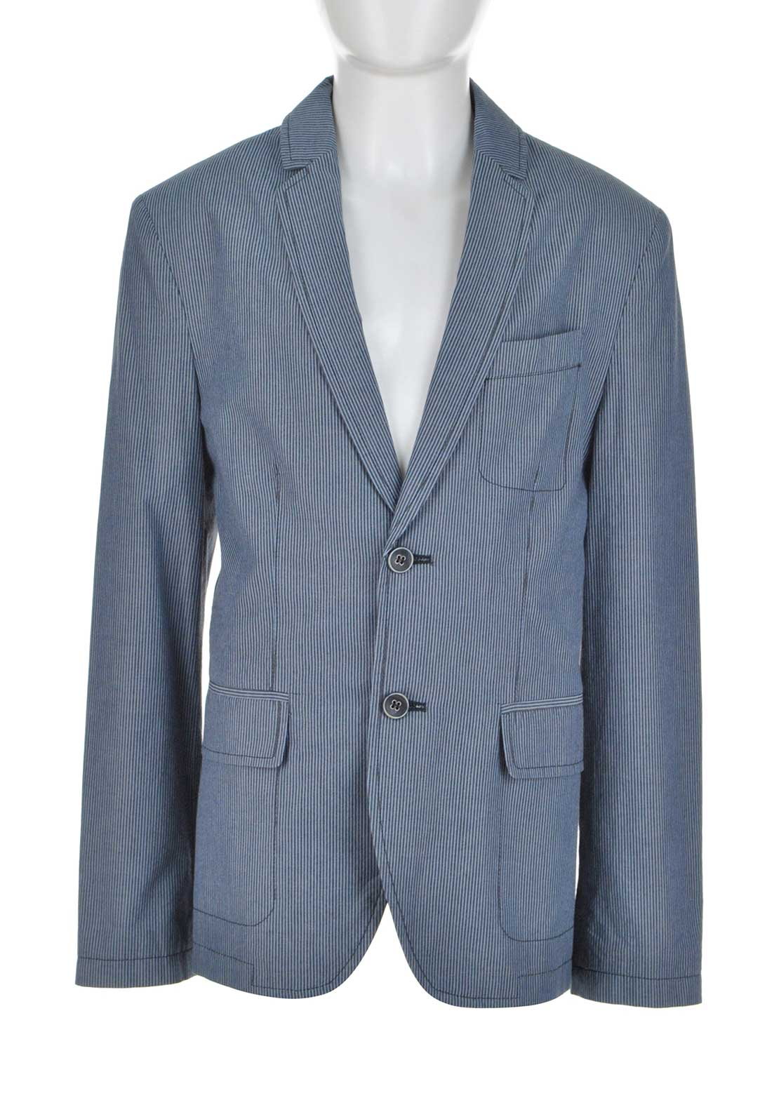 Weise Boys Striped Blazer Jacket, Grey and Blue