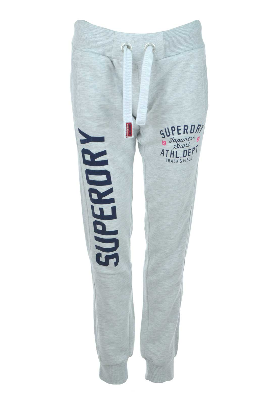 Superdry Womens Japanese Sport Trackster Jogger Tracksuit Bottoms, Ice Marl