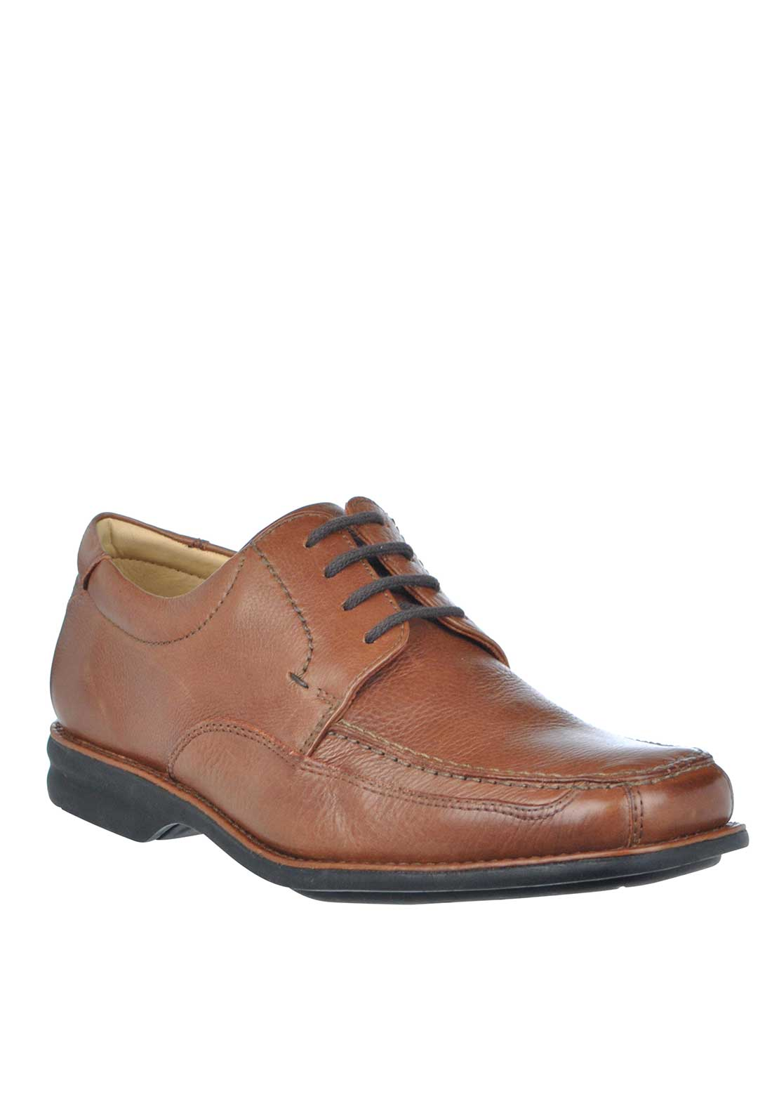 Anatomic & Co Goias Wide Fit Lace Up Leather Shoes, Brown